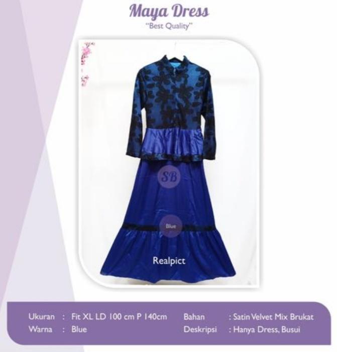 Jual Baju Busana Muslim Maya Dress
