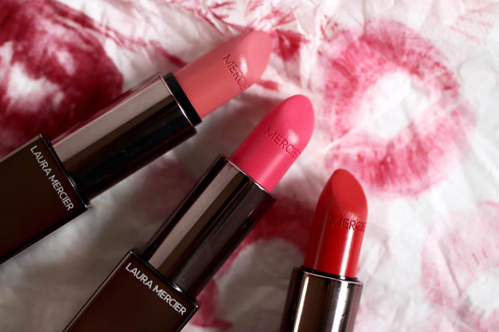 laura-mercier-rose-essentiel-rouge-electrique-nude-nouveau-avis-test-rouge-a-levres-swatch-swatches