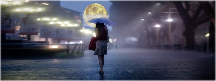 a Lua influencia a quantidade de chuva
