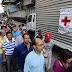 Largas filas de nuevo en Caracas, esta vez por la ayuda humanitaria