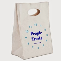 People Treats Canvas Lunch Tote
