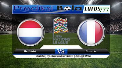 Prediksi pertandingan Belanda vs Prancis 17 November 2018