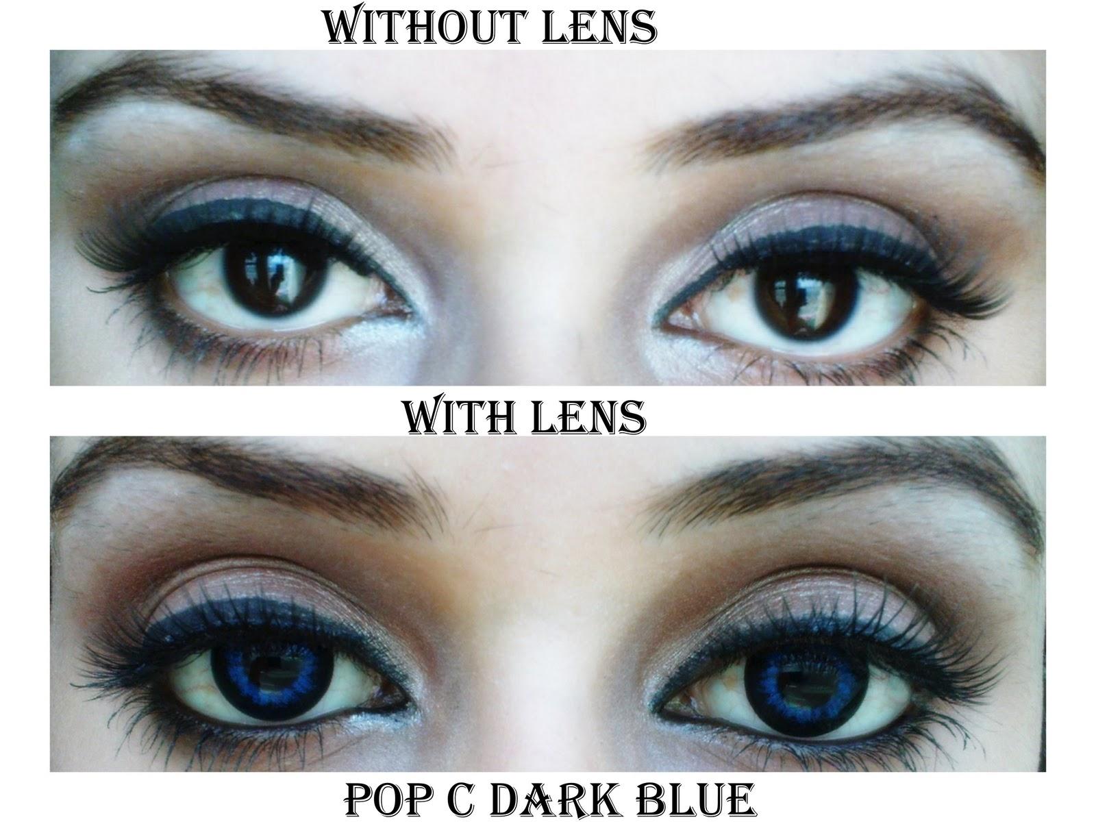 e0043b166e4 Review: Pop C Dark Blue Circle Lens - Free makeup ideas: Review: Pop ...