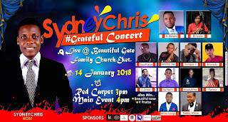 #Sponsored: Sydney Chris - #Grateful concert.