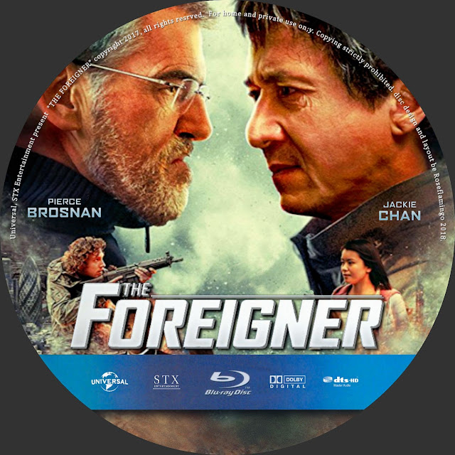 The Foreigner Bluray Label