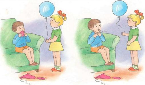 Colocar en la boca un pedazo de globo