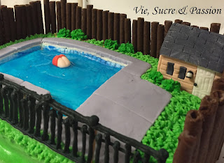 Swimming Pool cake - Backyard