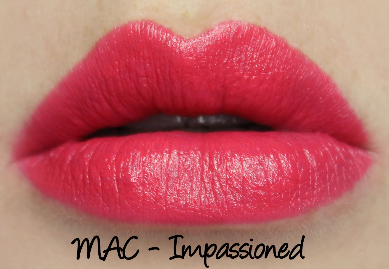 MAC Impassioned lipstick swatch