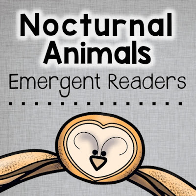 These nocturnal non-fiction, differentiated readers will go right along with the other fall or Halloween activities, crafts, and ideas you have planned for your class. Help your Kindergarten or First Grade students develop confidence in their reading abilities while learning about nocturnal animals at the same time. In addition, the last page of each reader incorporates writing practice as students recall facts that they learned in the reader. Try one out for FREE!