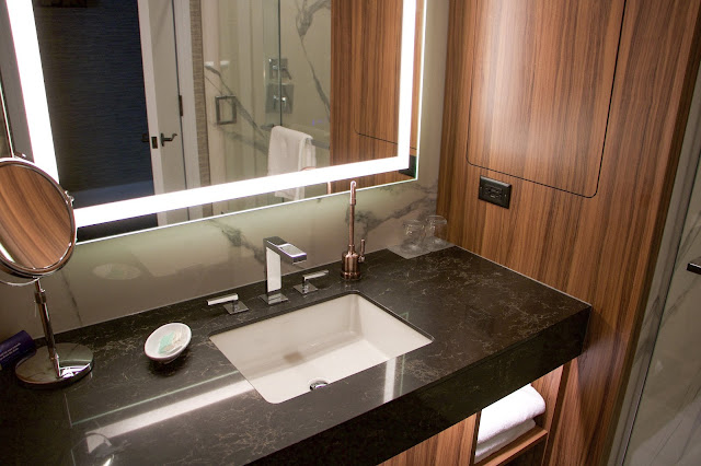 Renovated Washroom Hyatt Regency Calgary travel Alberta