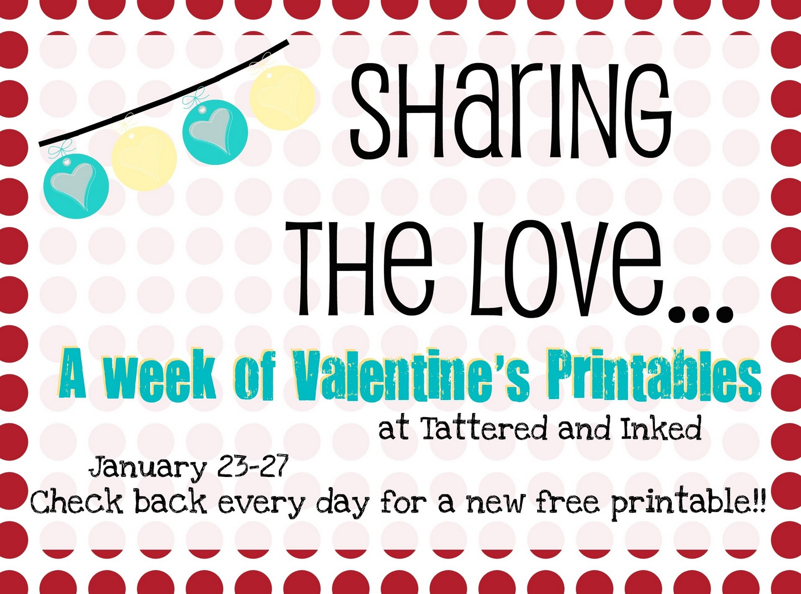 Tattered And Inked A Week Of Valentine S Printables If You Re A Bird Print