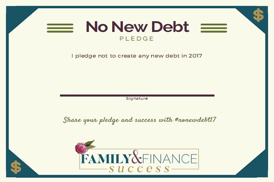 no new debt pledge form