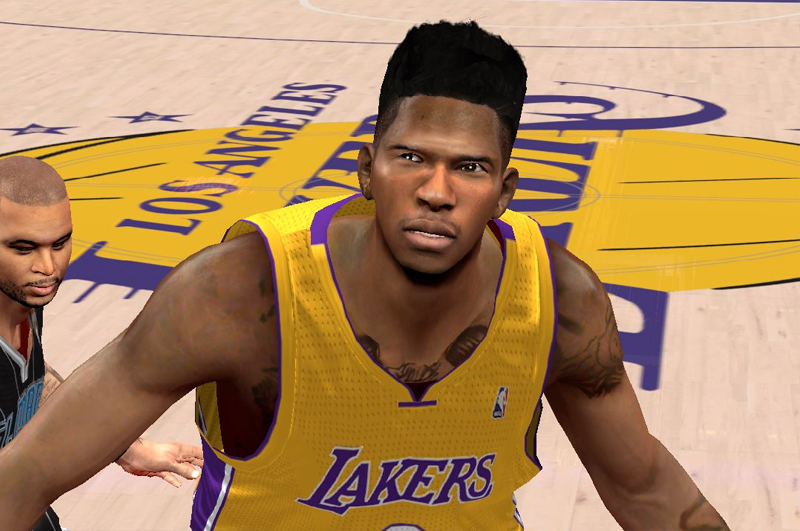 NBA 2K14 Nick Young Hair Update Mod