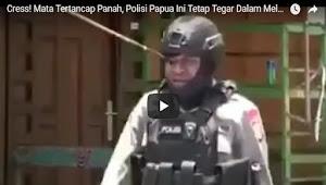 Cress! Mata Tertancap Panah, Polisi Papua Ini Tetap Tegar Dalam Melerai Pertikaian
