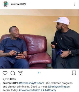 Presidential Candidate Sowore Finally Meets Banky W