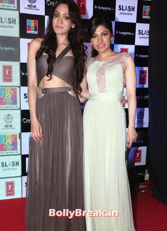 Khushali Kumar, Tulsi Kumar, Khushali & Tulsi Kumar Hot Pics from 'Creature 3D' Music Launch