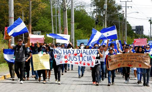 Jóvenes universitarios fueron reprimidos pro las fuerzas de Ortega / VOA/ AP