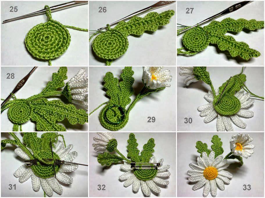 Aplique de Margarita paso a paso - crochet irlandés | Todo crochet
