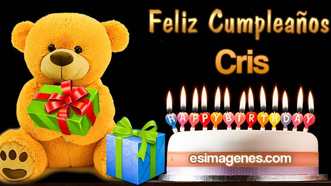 Feliz Cumpleaños Cris