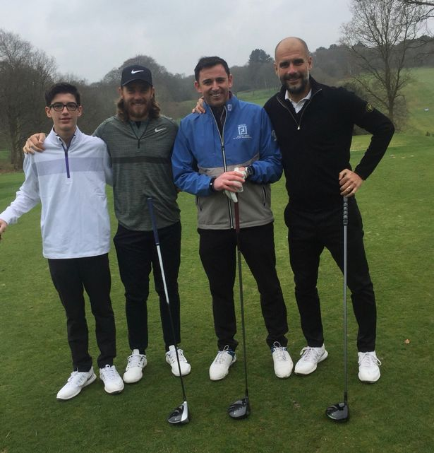 Pep Guardiola missed Manchester City's title winning moment - because he was playing golf with Tommy Fleetwood