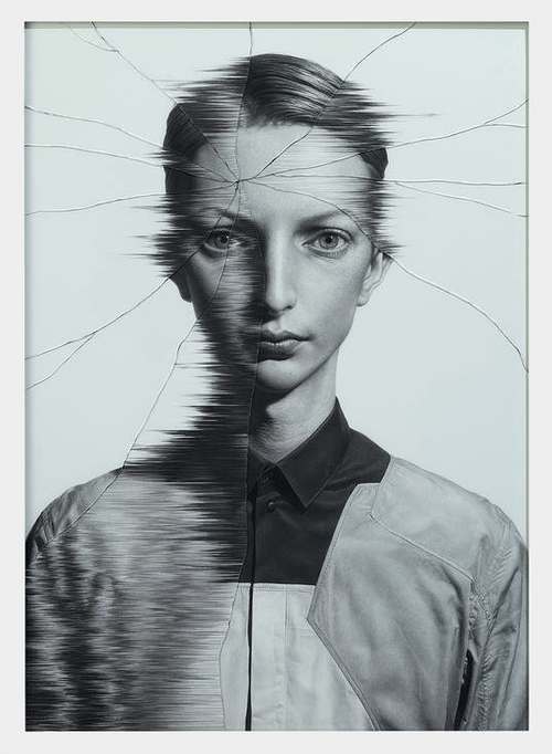 07-The-Cracked-Portrait-Pencil-Drawing-and-Glass-www-designstack-co