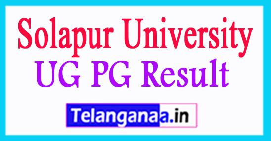University of Solapur Result 2018 Solapur University UG PG Result 2018