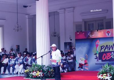 Pawai Obor Jakarta Asian Para Games 2018 Menggelorakan Ibukota