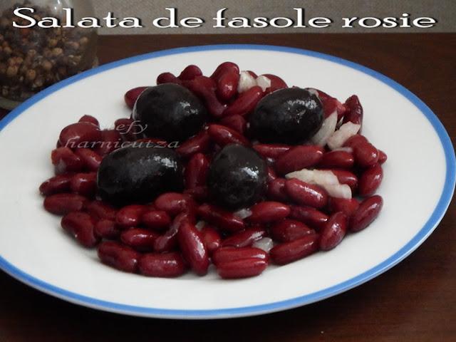 Salata de fasole rosie (de post)