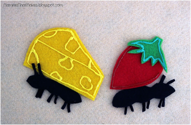 Felt Board Shapes - Ant Picnic
