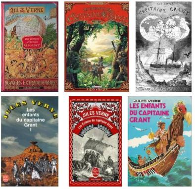 Grant kapitány gyermekei könyvborítók
