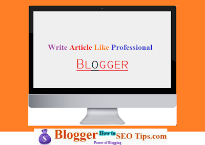 What to Write in Your Blog like professional