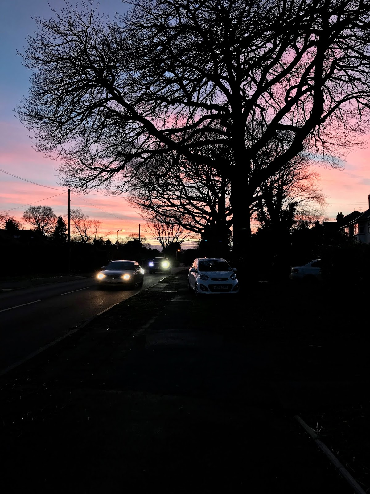 Sunset on Station Road