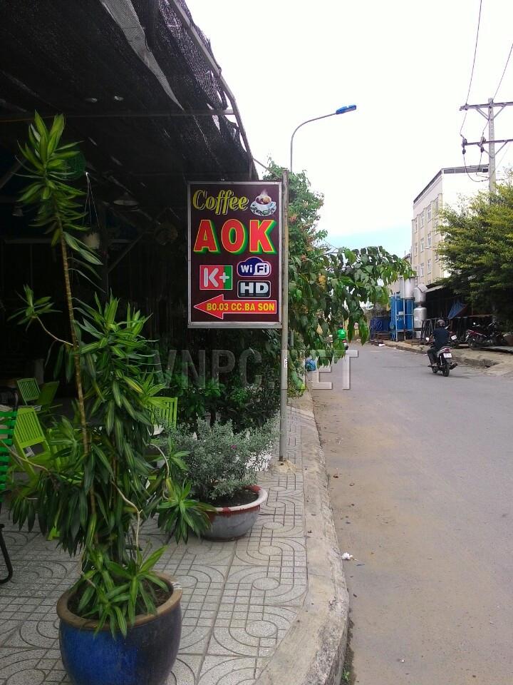 quán cafe xem bóng đá K+ AOK TpHCM