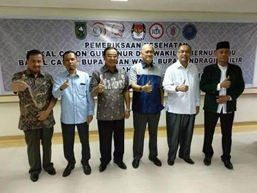 RS. Arifin Achmad  Periksa Kesehatan Calon Kepala Daerah Hingga 15 Januari