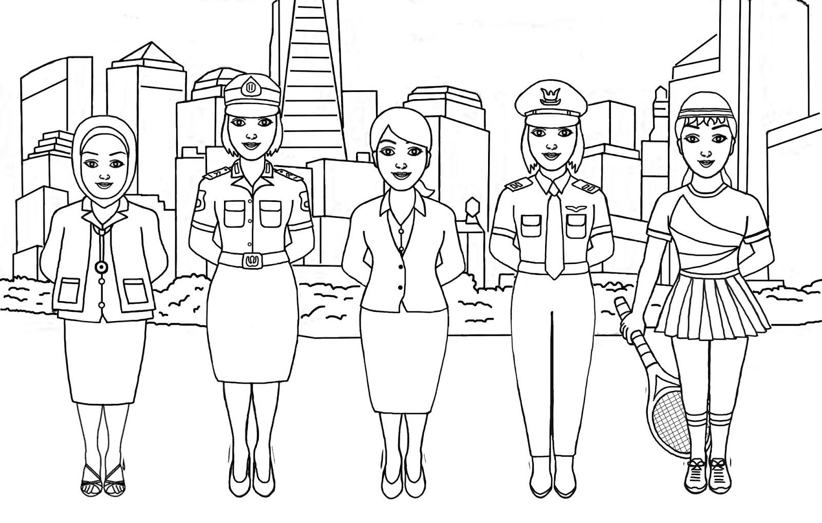 Ahmedatheism Gambar Mewarnai Ibu Kartini