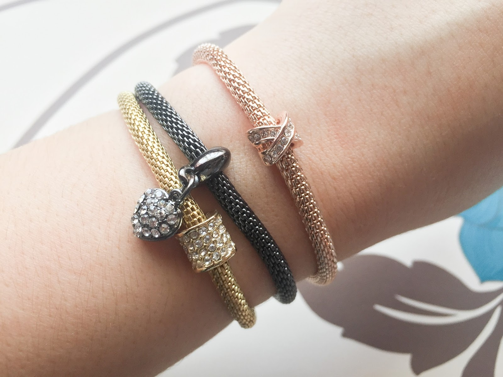 Buckley London Sparkle Mesh Bracelets