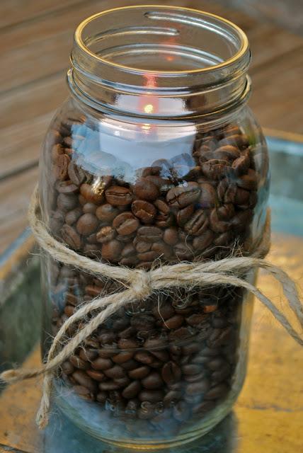 Fall Decorating Coffee Beans Amp Mason Jars Amanda Jane Brown
