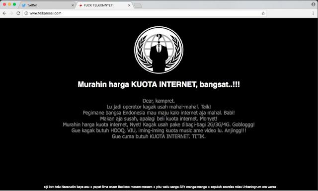 Website Telkomsel Diretas