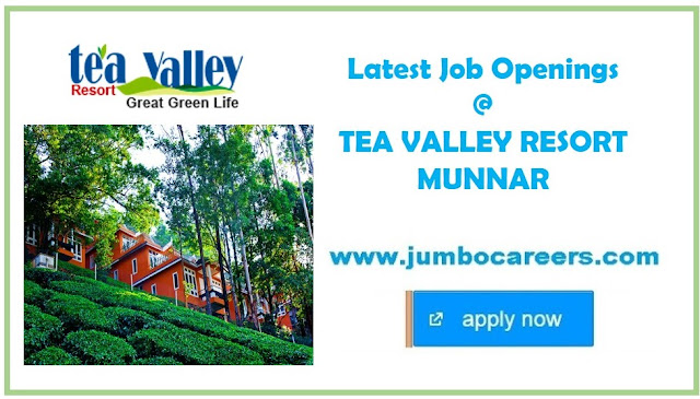 Latest Jobs in Munnar hotels,