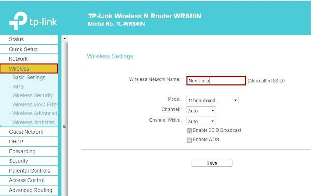Cara Setting TP-Link TL-WR840N