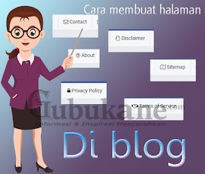 Cara membuat halaman  About, Contact, Sitemap, Disclaimer, Privacy Policy, Terms of Service di blog.