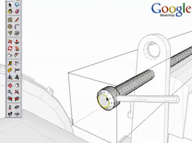 How To Create 3d Modeling A Tractor With Google Sketchup