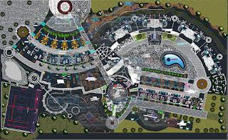 download-autocad-cad-dwg-file-Planimetria-hotel-en-desnivel-ecological-plant