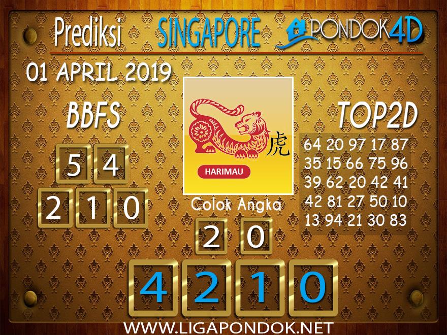 Prediksi Togel SINGAPORE PONDOK4D 01 APRIL 2019