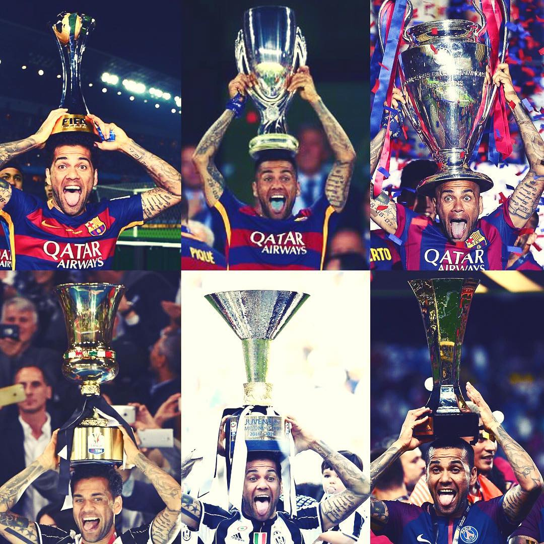 Dani Alves Born To Win Trophy