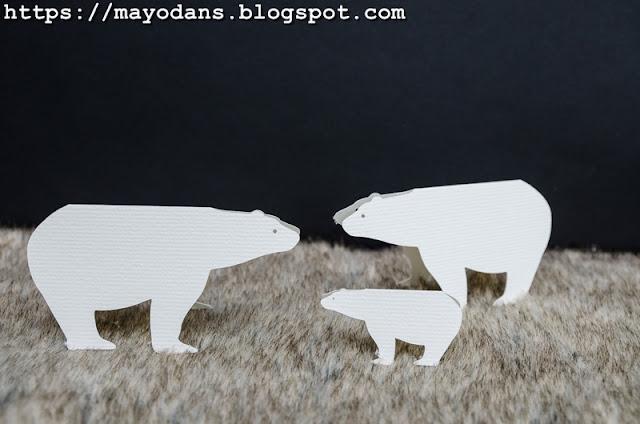 Eisbären aus Papier