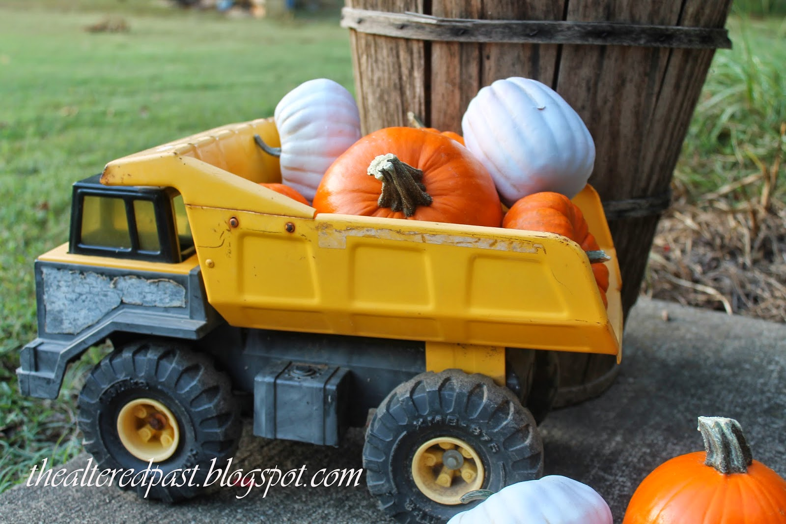 the altered past vintage tonka truck pumpkins