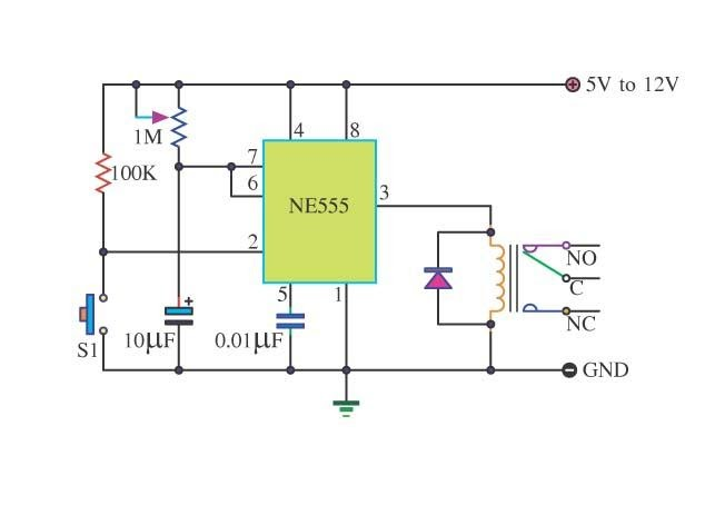 Free Circuit Diagrams  Timer 555 Schematic