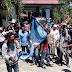 Kecewa Samsul Dicopot, Warga Sai Bakar Bendera Demokrat
