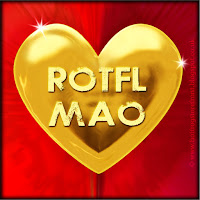 'ROTFLMAO' text on gold heart free image for texting